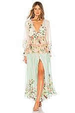 ROCOCO SAND Ruched Long Dress in Multi
