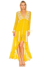 ROCOCO SAND Blaze Hi Low Dress in Yellow
