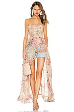 ROCOCO SAND Melody Strapless Dress in Colorful