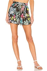ROCOCO SAND Moonlight Printed Shorts in Black