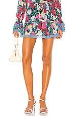 ROCOCO SAND Tallia Mini Skirt in Deep Green