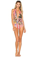 ROCOCO SAND Plunging One Piece in Red