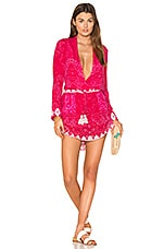 ROCOCO SAND Plunging Mini Dress in Pink