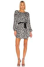 retrofete Grace Dress in Silver Leopard