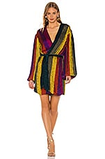 retrofete Gabrielle Robe Dress in Multi Stripe