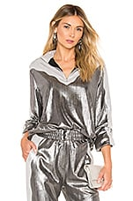 retrofete Daisy Jacket in Metallic Silver