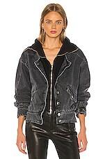 retrofete Jax Jacket in Black Vintage