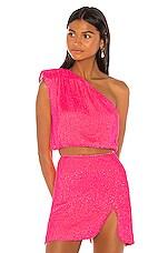 retrofete x REVOLVE Karen Blouse in Neon Pink