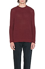 Crew Sweater in Burgundy