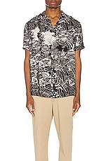 ROLLA'S Bon Monstera Shirt in Black & White