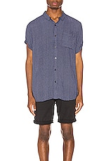 ROLLA'S Beach Boy Dot Shirt in Dreamtime Navy