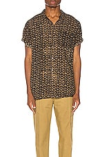 ROLLA'S Beach Boy Sun God Shirt in Black Gold