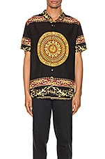 ROLLA'S Bon Shirt in Black & Gold