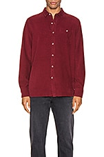 ROLLA'S Men At Work Cord Shirt in Red Earth