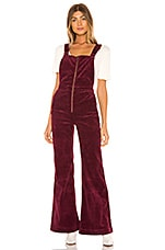 ROLLA'S Eastcoast Corduroy Flare Overall in Bordeaux