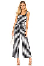 ROLLA'S Sailor Jumpsuit in Navy & White