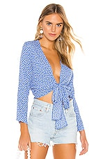 ROLLA'S Delilah Blouse in French Blue