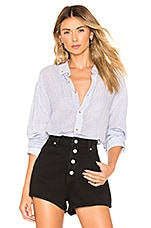 ROLLA'S Slouch Stripe Shirt in Blue & White