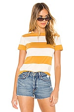 ROLLA'S Big Stripe Tee in Gold