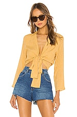 ROLLA'S Delilah Wrap Blouse in Gold