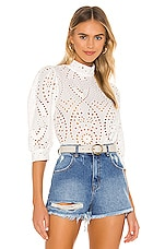 ROLLA'S X Sofia Richie Stephanie Lace Blouse in White