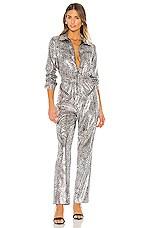 Ronny Kobo Ozzy Jumpsuit in Silver