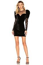 Ronny Kobo Sharon Velvet Dress in Black