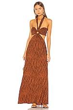 Ronny Kobo Sonnet Dress in Clay Multi