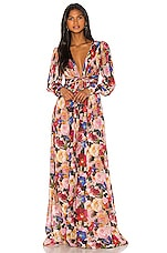 Ronny Kobo Carmella Dress in Mulberry Multi