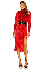 Ronny Kobo Kaira Dress in Red