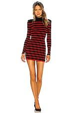 Ronny Kobo Henrietta Dress in Black & Red