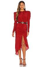 Ronny Kobo Juju Dress in Red & Black