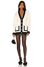 Ronny Kobo Omorose Cardigan in Black & White
