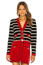Ronny Kobo Kelseyn Cardigan in Black, Red & Tapioca