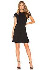 Rebecca Taylor Stretch Texture Mini Dress in Black