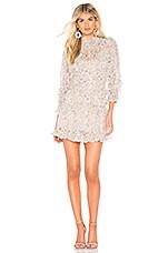 Rebecca Taylor Vivianna Ruffle Dress in Cream Combo