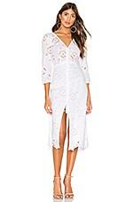 Rebecca Taylor Terri Embroidered Dress in Milk