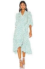 Rebecca Taylor Long Sleeve Emerald Daisy Dress in Cream Combo