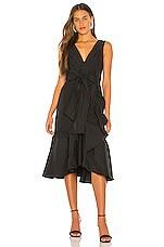 Rebecca Taylor Sl Taffeta Dress in Black