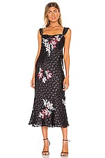 Rebecca Taylor Sleeveless Noha Floral Dress in Black Combo