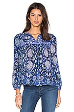 Long Sleeve Dreamweaver Top en Indigo Combo