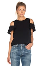 TOP CROPPED SHORT SLEEVE OPEN SHOULDER