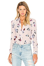 Long Sleeve Bellflower Top en Imprimé Blush
