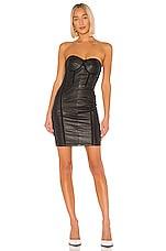 RtA Gwenyth Leather Dress in Black