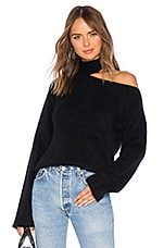 RtA Langley Mohair Sweater in Blackout