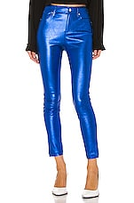 RtA Madrid Leather Pant in Electric Blue