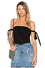 Josephine Off Shoulder Top in Noir