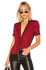 RtA Flynn Top in Red Leopard