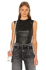 RtA Claire Leather Bodysuit in Nightlife 2