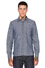 Traveler Button Down in Blue Chambray